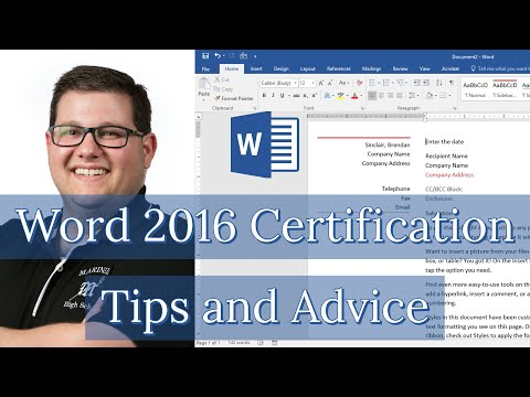 Word 2016 Exam 77-725 - Certification Tips and Advice - YouTube