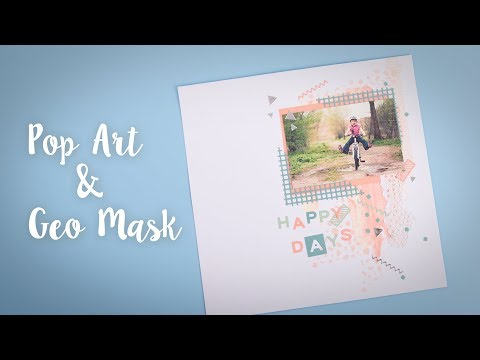How to Make a Geometric Scrapbook Page