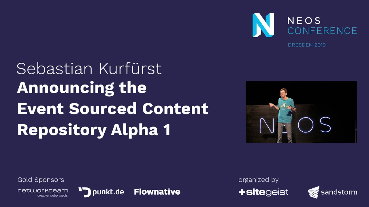 Neos Con 2019 | Announcing the Event Sourced Content Repository Alpha 1
