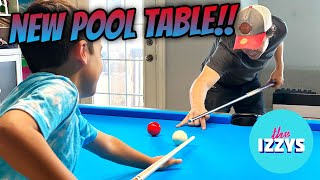 OUR NEW POOL TABLE ARRIVED!