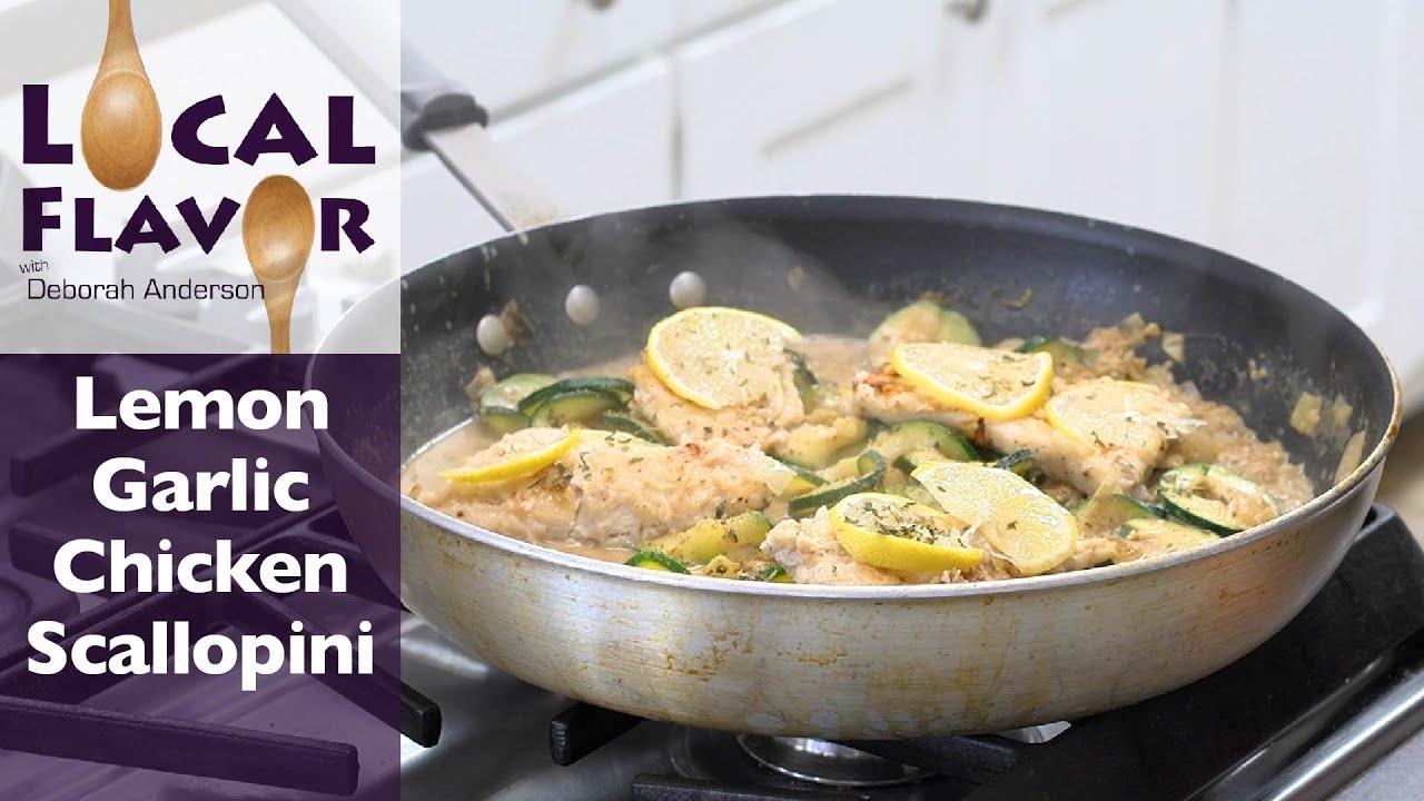 Lemon Garlic Chicken Scallopini