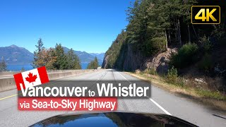 Driving the scenic Sea-to-Sky Highway from Vancouver to Whistler