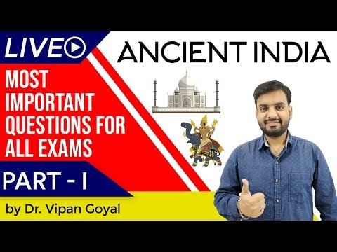 Ancient Indian History I Most Important Questions For All Exams Set 1 by Dr Vipan Goyal