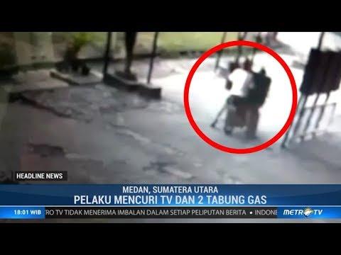 Aksi Terekam CCTV, Dua Pelaku Pencurian di Medan Diringkus Polisi