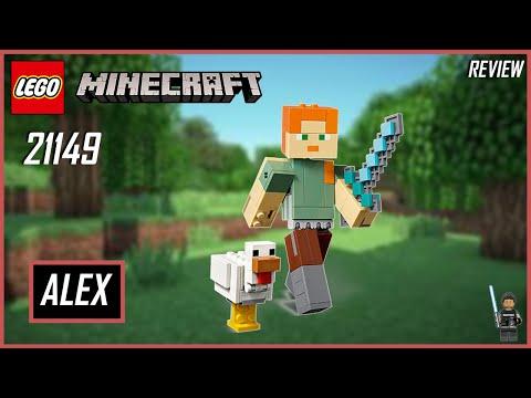 Vidéo LEGO Minecraft 21149 : Bigfigurine Minecraft Alex et son poulet