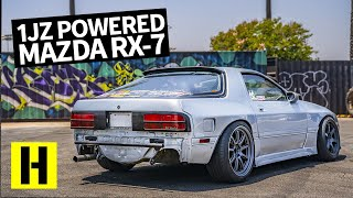 Toyota 1JZ Powered Mazda RX7 FC and it Sounds Amazing!