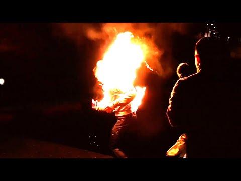 STIAN'S FIRST FIRE STUNT  |  HALF BODY BURN  |  TEAM ISA (видео)