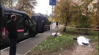 Видео СК с места убийства следователя в  Подмосковье