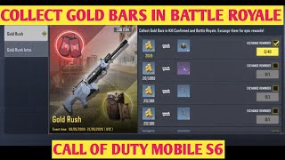 GOLD RUSH EVENT COLLECT GOLD BARS IN BATTLE ROYALE EXCHANGE THEM FOR EPIC REWARDS CALL OF DUTY MOBIL
