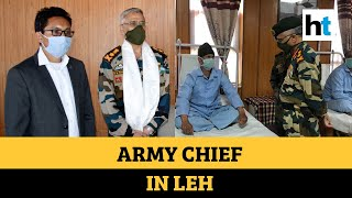Army chief meets soldiers at Ladakh hospital amid China tension - Download this Video in MP3, M4A, WEBM, MP4, 3GP