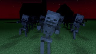 Minecraft - Spooky Scary Skeletons (Remix) - Minecraft Animation Music Video