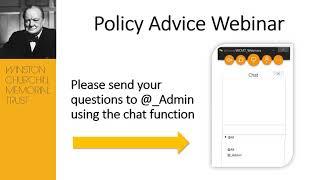 Churchill Fellows' webinar: How to influence policy