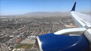 Incredible Landing over the Las Vegas Strip in Las Vegas Delta Airlines Boeing 757 (Winglets)