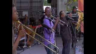 """Dirty Dozen Brass Band at Jazzfest 2013 - """"Blackbird Special"""""""