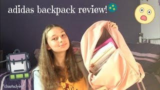 adidas backpack review! I cbastudying