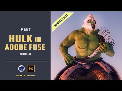 Create hulk rigged model using adobe fuse and mixamo [ADOBE FUSE TUTORIAL]