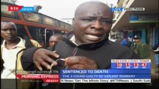 Nairobi residents react to those sentenced to death after assaulting a woman inside a bus