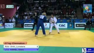 Judo 2012 European Championship U23 Prague: Ohai (ROU) - Kiskel (LTU) [-57kg]