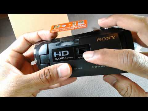 Sony HDR-PJ410 Full HD 1080 Projector Camcorder Unboxing (Australia)