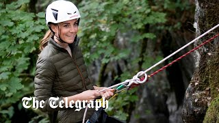 video: Duchess of Cambridge abseils and mountain bikes in action-packed visit to the Lake District