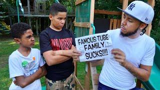 OBSESSED Fan BULLIES YouTube Family, Learns His Lesson   FamousTubeFamily
