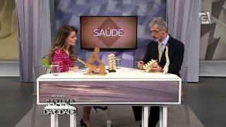 Dr. Fabio Ravaglia em entrevista sobre dores na coluna, no programa Revista da Cidade na TV Gazeta.