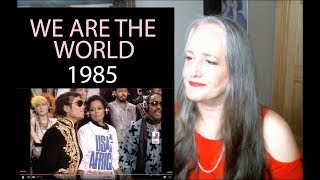 Voice Teacher Reaction to We Are The World 1985