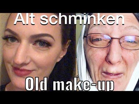 ALT schminken - ich bin ne´ Oma :) nur mit Schminke !