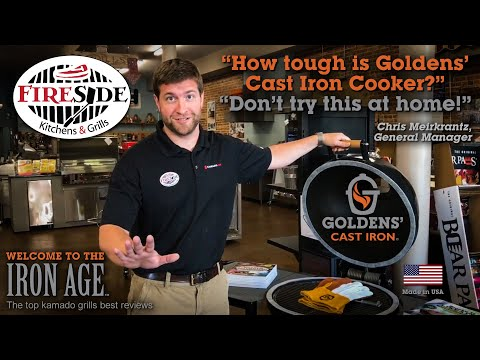 Kamado Grill Review – FireSide Outdoor Kitchens & Goldens Cast Iron.