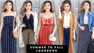 SUMMER to FALL Fashion Lookbook 2017 | Summer to Fall Transition Outfits | Miss Louie