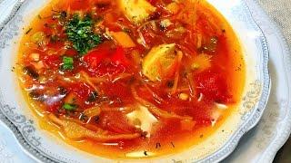 БОРЩ с Куриной Грудкой для Худеющих . Секрет Диетической Пассировки. Dietary soup.