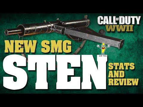 New SMG DLC In Call Of Duty WW2: Sten Stats And Review! (Sten DLC SMG Review)