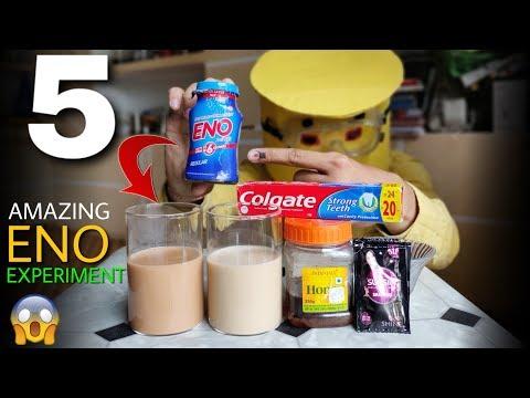 5 Amazing ENO Experiment - Mixing Eno Into Tea Coffee Honey Colgate Toothpaste And Shampoo