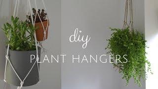 DIY MACRAME PLANT HANGER (EASY!) | Jess Windle