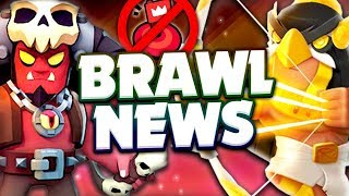 BRAWL NEWS - New Update Skins, Hot Zone Removed, Cupid Piper Skin & More!