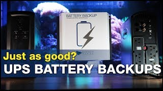 The power is out. How many hours does your tank have? UPS vs. DC battery backup!