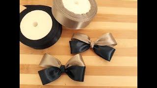 Simple Tie Bow / Membuat Kreasi Pita Satin