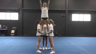 Basic Cheerleading Stunt Progression: Gut Stand