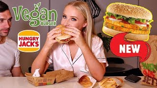 VEGAN FAST FOOD MUKBANG + Q&A | Lauren Curtis