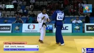 Judo 2012 European Championship U23 Prague: Davis (GBR) - Szabo (HUN) [-57kg]