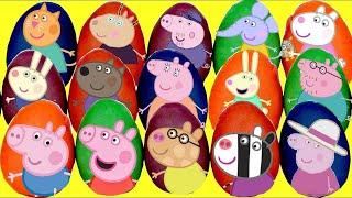 LOTS of PEPPA Pig Play-doh Surprise Eggs!