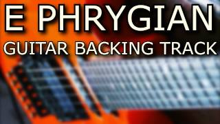 E Phrygian Guitar Backing Track // Metal