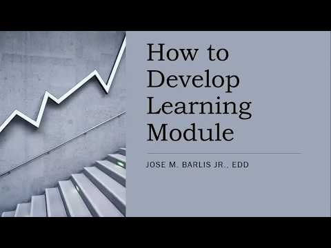 presentation on how to develop a learning module