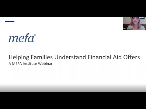 The MEFA Institute: Helping Families Understand Financial Aid Offers