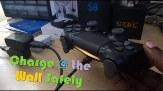 How to charge your PS4 Controller with a Phone charger safely