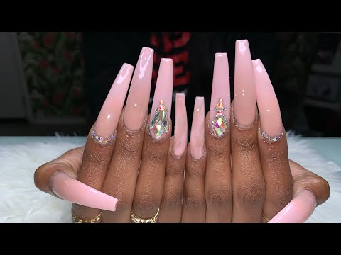 XX-Long Acrylic Nails | Ombré Nails | Acrylic Nails Tutorial