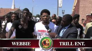Webbie on NBTV Giving Respect at Michael Brown Funeral: