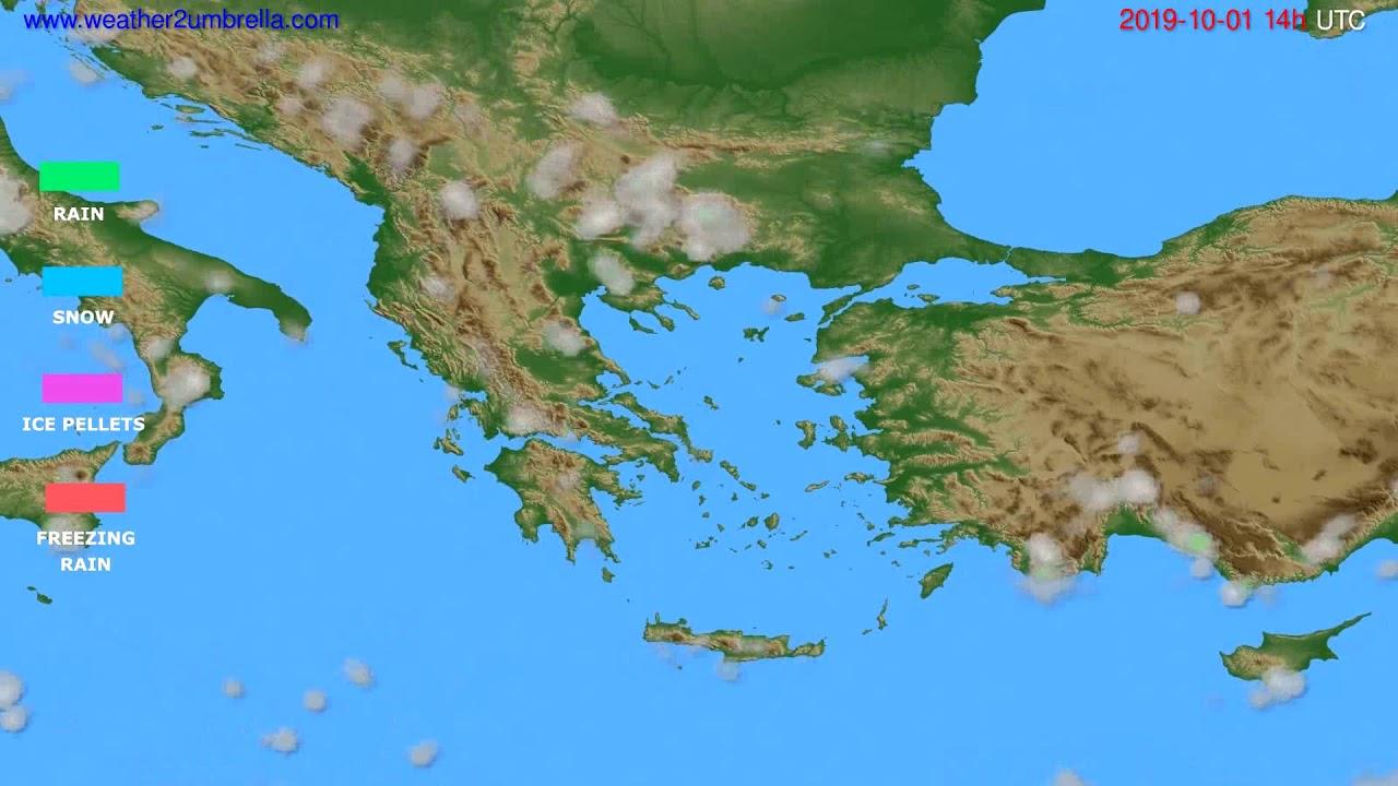 Precipitation forecast Greece // modelrun: 12h UTC 2019-09-28