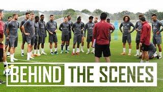 Pre-season exclusive   Unai Emery takes Arsenal stars through drills