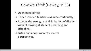 John Dewey Reflective Thinking